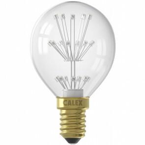 CALEX - LED Lamp - Kogellamp P45 - E14 Fitting - 1W - Warm Wit 2100K - Helder Transparent