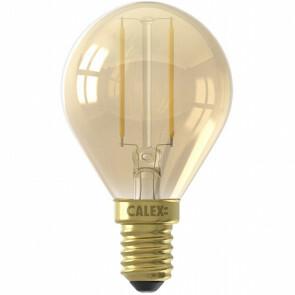 CALEX - LED Lamp - Kogellamp P45 - E14 Fitting - 2W - Warm Wit 2100K - Goud