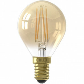 CALEX - LED Lamp - Kogellamp P45 - E14 Fitting - 3W - Dimbaar - Warm Wit 2100K - Goud