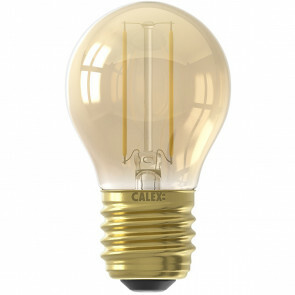 CALEX - LED Lamp - Kogellamp P45 - E27 Fitting - 2W - Warm Wit 2100K - Goud