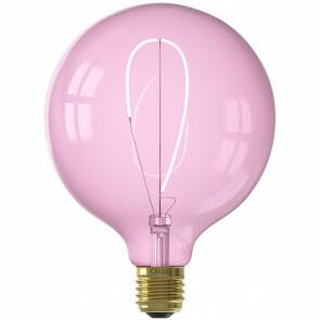 CALEX - LED Lamp - Nora Quartz G125 - E27 Fitting - Dimbaar - 4W - Warm Wit 2000K - Roze