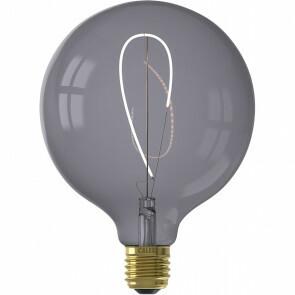 CALEX - LED Lamp - Nora Topaz G125 - E27 Fitting - Dimbaar - 4W - Warm Wit 2200K - Grijs