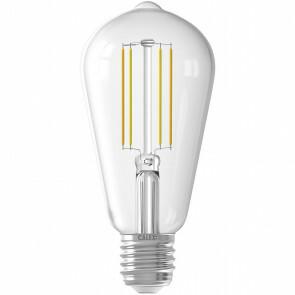 CALEX - LED Lamp - Smart LED ST64 - E27 Fitting - Dimbaar - 7W - Aanpasbare Kleur - Transparant Helder