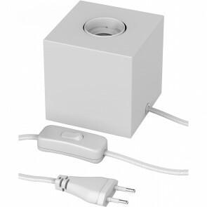 CALEX - LED Tafellamp - Tafelverlichting - Cita - E27 Fitting - Vierkant - Mat Wit - Kunststof