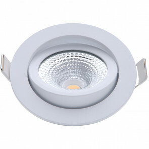 EcoDim - LED Spot - Inbouwspot - ED-10022 - 5W - Waterdicht IP54 - Dimbaar - Dim to Warm - Warm Wit 2000K-3000K - Mat Wit - Aluminium - Rond - Kantelbaar