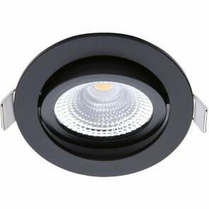 EcoDim - LED Spot - Inbouwspot - ED-10029 - 5W - Waterdicht IP54 - Dimbaar - Warm Wit 2700K - Mat Zwart - Aluminium - Rond - Kantelbaar