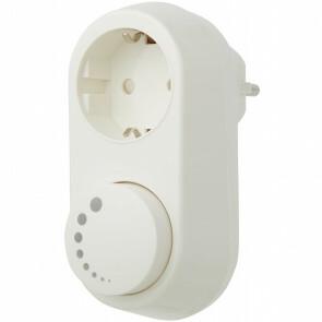 EcoDim - LED Stekkerdimmer - Smart WiFi - ECO-DIM.06 - Fase Afsnijding RC - ZigBee - Opbouw - Enkel Knop - 0-100W - Wit