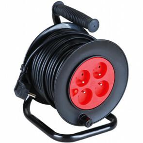 Kabelhaspel - Aigi Sitronu - 2300W - 4 Stopcontacten - 40 Meter - Zwart