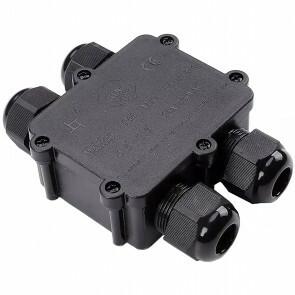 Kabelverbinder - Viron Thermy - Rechte 4-voudig Connector - Waterdicht IP68 - Mat Zwart