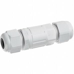 Kabelverbinder - Viron Haskon - Rechte Connector - Waterdicht IP68 - 3 Aderig - Mat Wit