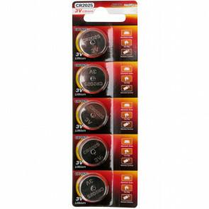 Knoopcel Batterij - Aigi Udran - CR2025 - 3V - Lithium Batterijen - 5 Stuks