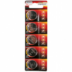 Knoopcel Batterij - Aigi Zinya - CR2032 - 3V - Lithium Batterijen - 5 Stuks