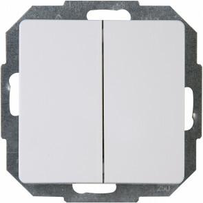 KOPP - Serieschakelaar - Paris - Inbouw - 1-voudig Dubbel Schakelaar - Arctic Glans Wit