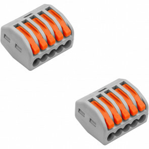 Lasklem BSE 5 Polig met Klemmetjes Grijs/Oranje