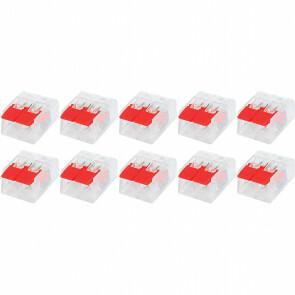 Lasklem Slim Set 10 Stuks - 2 Polig met Klemmetjes - Rood