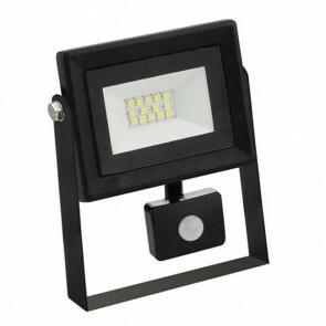 LED Bouwlamp 10 Watt met sensor - LED Schijnwerper - Pardus - Helder/Koud Wit 6400K - Waterdicht IP65