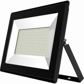 LED Bouwlamp 100 Watt - LED Schijnwerper - Aigi Iglo - Natuurlijk Wit 4000K - Waterdicht IP65 - Mat Zwart - Aluminium