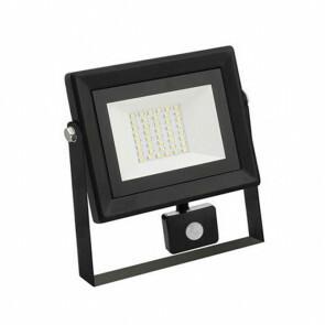 LED Bouwlamp 30 Watt met sensor - LED Schijnwerper - Pardus - Helder/Koud Wit 6400K - Waterdicht IP65
