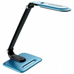 LED Bureaulamp - Aigi Eindy - 8W - Natuurlijk Wit 5000K - Dimbaar - Mat Blauw