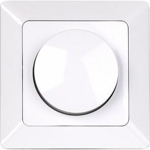 LED Dimmer - Aigi - Inbouw - Enkel Knop - 7-110W - Wit