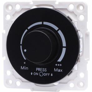 LED Dimmer - Aigi Jura - Inbouw - Rond - Kunststof - Enkel Knop - 3-100W - Zwart