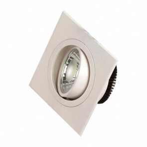 LED Downlight - Inbouw Vierkant 5W - Helder/Koud Wit 6400K - Mat Wit Aluminium - Kantelbaar 93mm