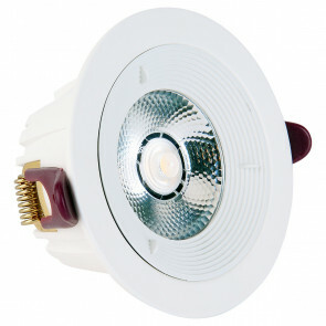 LED Downlight Lonar - Inbouw Rond 7W - Dimbaar - Natuurlijk 4000K - Mat Wit Aluminium Ø98mm