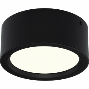 LED Downlight - Opbouw Rond Hoog 15W - Natuurlijk Wit 4200K - Mat Zwart Aluminium - Ø180mm