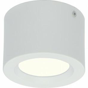LED Downlight - Opbouw Rond Hoog 5W - Natuurlijk Wit 4200K - Mat Wit Aluminium - Ø105mm