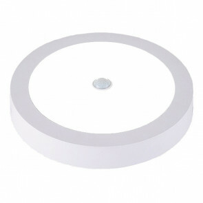 LED Downlight - PIR Bewegingssensor 360° - Opbouw Rond 20W UGR19 - Helder/Koud Wit 6000K - Mat Wit Aluminium - Ø225mm