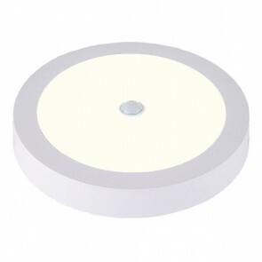 LED Downlight - PIR Bewegingssensor 360° - Opbouw Rond 20W UGR19 - Natuurlijk Wit 4000K - Mat Wit Aluminium - Ø225mm