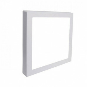 LED Downlight Pro - Aigi - Opbouw Vierkant 18W - Helder/Koud Wit 6000K - Mat Wit Aluminium - 227mm