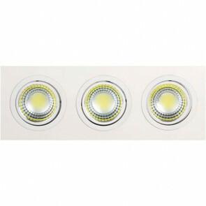LED Downlight Rechthoek Inbouw 15W 6400K Helder/Koud Wit Aluminium Mat Wit Armatuur/Frame Kantelbaar 255x93mm
