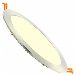 LED Downlight Slim - Inbouw Rond 18W - Warm Wit 3000K - RVS - Ø223mm