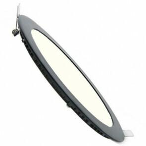 LED Downlight Slim - Inbouw Rond 6W - Natuurlijk Wit 4200K - Mat Zwart Aluminium - Ø120mm