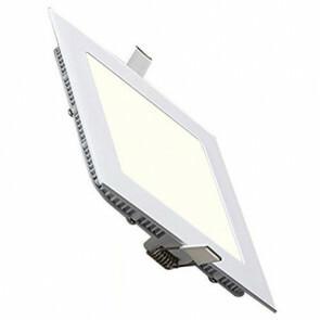 LED Downlight Slim - Inbouw Vierkant 3W - Natuurlijk Wit 4200K - Mat Wit Aluminium - 89mm