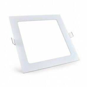 LED Downlight Slim Pro - Aigi - Inbouw Vierkant 18W - Helder/Koud Wit 6000K - Mat Wit Aluminium - 220mm