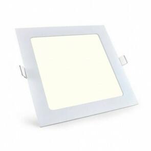 LED Downlight Slim Pro - Aigi - Inbouw Vierkant 18W - Natuurlijk Wit 4000K - Mat Wit Aluminium - 220mm