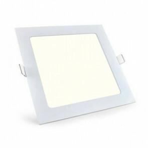 LED Downlight Slim - Aigi - Inbouw Vierkant 6W - Natuurlijk Wit 4000K - Mat Wit Aluminium - 115mm