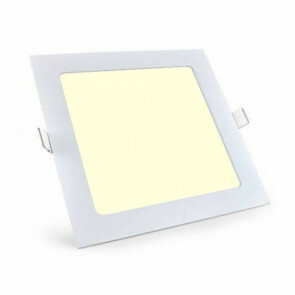 LED Downlight Slim - Aigi - Inbouw Vierkant 6W - Warm Wit 3000K - Mat Wit Aluminium - 115mm