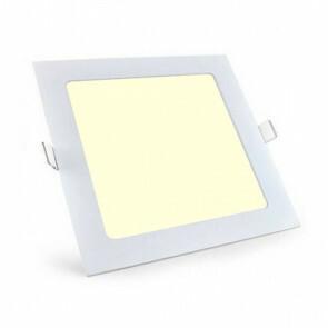 LED Downlight Slim - Aigi - Inbouw Vierkant 6W - Warm Wit 3000K - Mat Wit Aluminium - 115mm