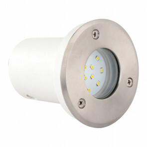 LED Grondspot - Inbouw Rond 1.2W - Waterdicht IP67 - Wit - RVS - Ø95mm