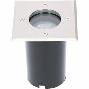 LED Grondspot - Sanola Aton - Inbouw - Vierkant - GU10 Fitting - Waterdicht IP67 - RVS Geborsteld