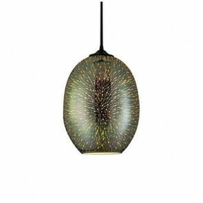 LED Hanglamp 3D - Quanta - Ovaal - Chroom Glas - E27