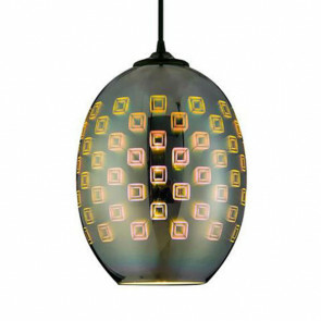 LED Hanglamp 3D - Spectra - Ovaal - Chroom Glas - E27