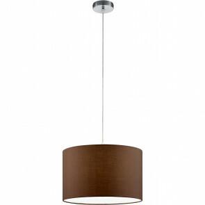 LED Hanglamp - Hangverlichting - Trion Hotia - E27 Fitting - Rond - Mat Bruin - Aluminium