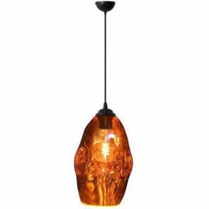 LED Hanglamp - Meteorum - Ovaal - Koper Glas - E27