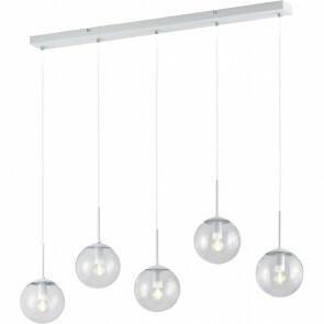 LED Hanglamp - Trion Balina - E14 Fitting - 5-lichts - Rechthoek - Mat Wit - Aluminium