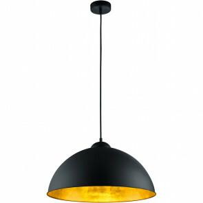 LED Hanglamp - Trion Romy - E27 Fitting - Rond - Mat Zwart Aluminium