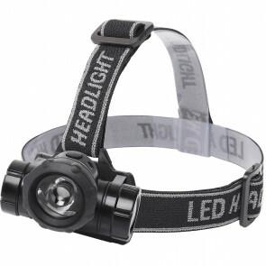 LED Hoofdlamp - Aigi Buvin - Waterdicht - 50 Meter - Kantelbaar - 1 LED - 1.8W - Zwart | Vervangt 10W